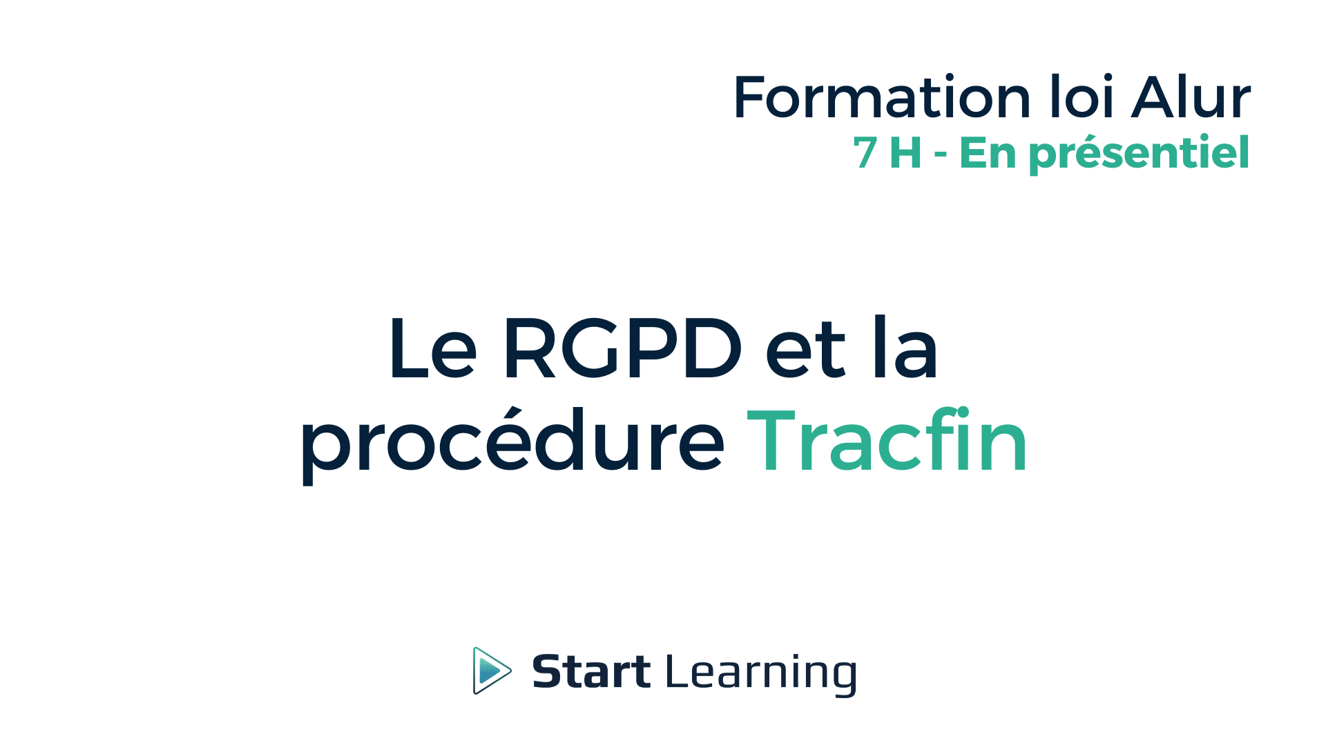 Formation loi Alur - La RGPD et la procédure Tracfin