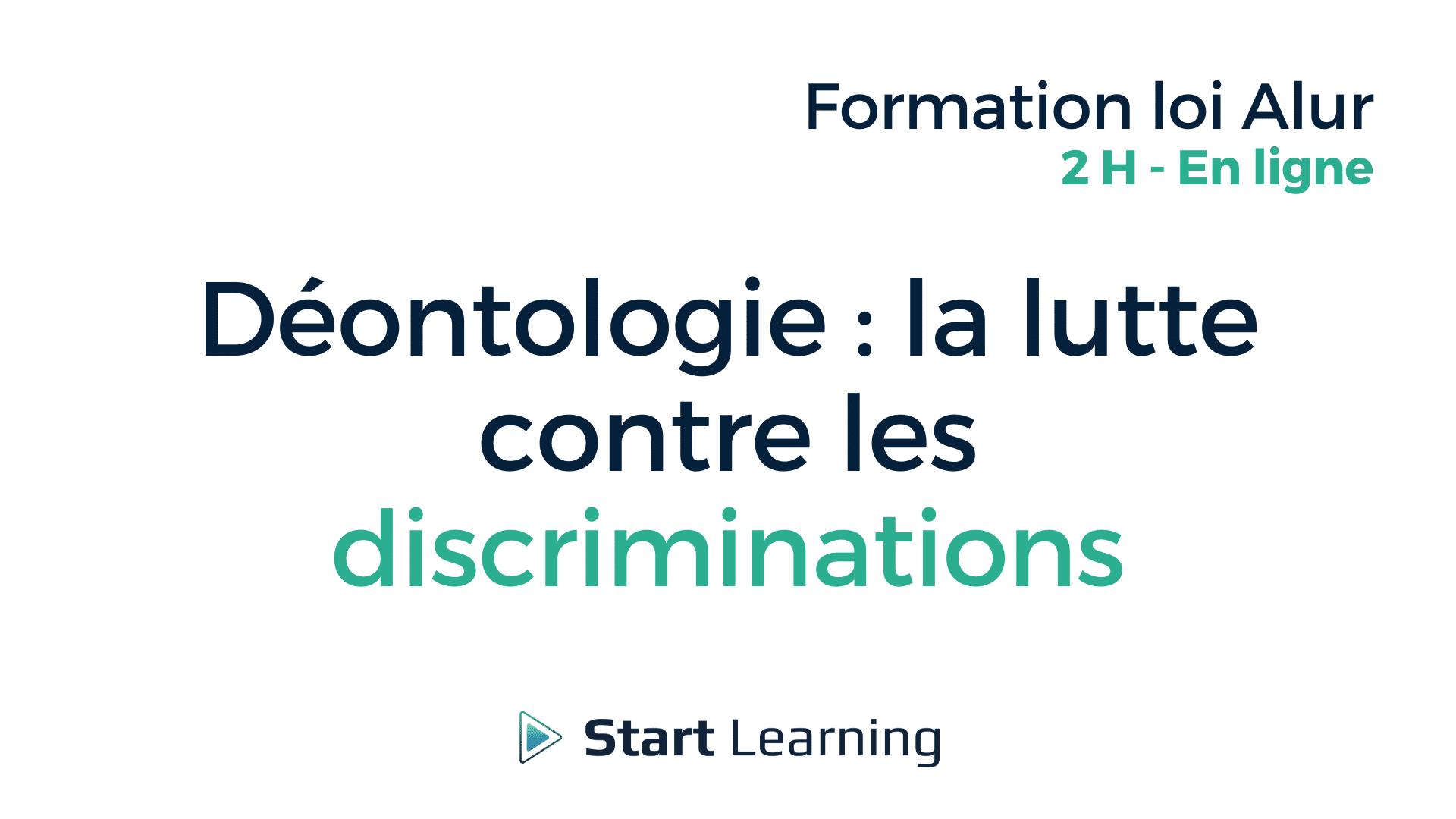 Formation loi Alur en ligne - Lutte contre la discrimination