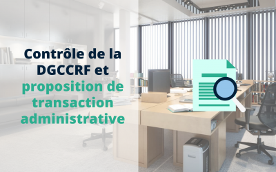 Contrôle DGCCRF et proposition de transaction administrative