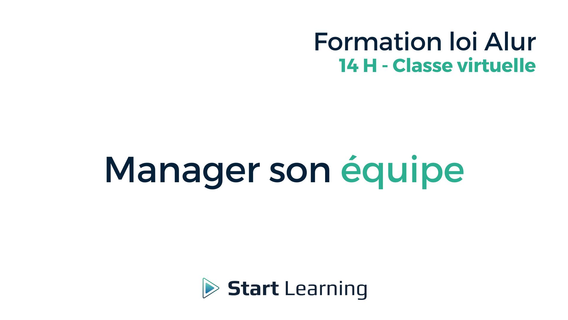 Formation loi Alur en classe virtuelle - Manager son équipe