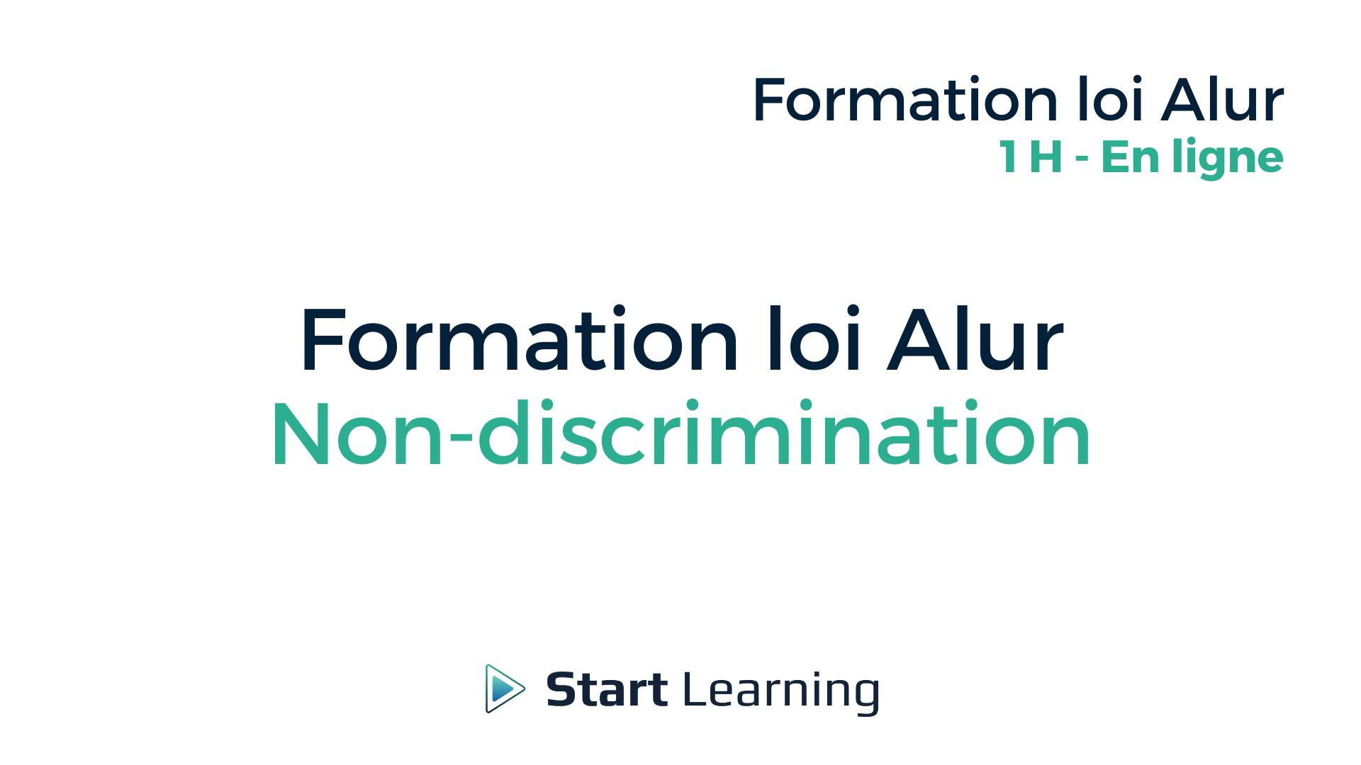 Formation loi Alur Non-discrimination - en ligne
